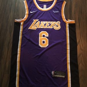 LeBron James Lakers Jersey Purple Men's M